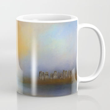 Monoliths - Who Were We Mug by Theresa Campbell D'August Art
