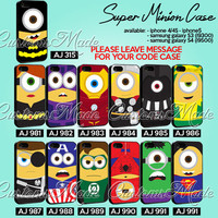 Avenger Cartoon Case Collection - iPhone 4/4s/5 Case - Samsung Galaxy S2/S3/S4 Case - Black or White