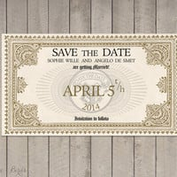 Wedding invitation Harry Potter - Save the Date Train Ticket Platform 9 3/4 Hogwarts Express - Digital file