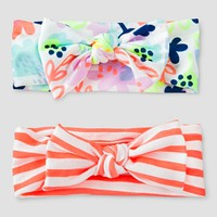 Baby Girls' 2pk Headbands - Baby Cat & Jack™ Floral/Striped : Target