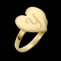 Gold Letter Ring - Personalized Ring - Personalized Letter Ring - Custom Ring - Personalized Jewelry - Personalized Gift  - Gold Filled Ring