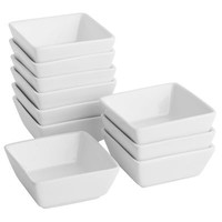 Luminous Porcelain 10-piece Square Dip Bowl Set