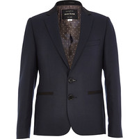 River Island Boys navy blue suit blazer
