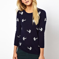 ASOS | ASOS Jumper With Embroidered Swallows at ASOS
