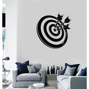 Vinyl Wall Decal Darts Target For Shooting Game Sport Stickers Mural (g186)
