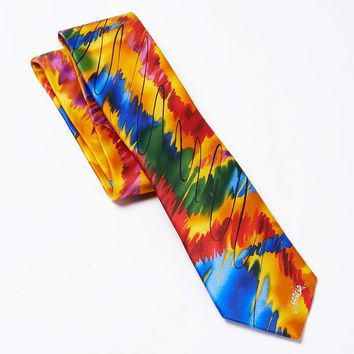 Jerry Garcia ''California Mission 7'' Tie - Men, Size: One Size (Yellow)