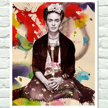 $19.00 Frida Kahlo  Modern Pop Art Poster  11x14 by PurpleCowPosters