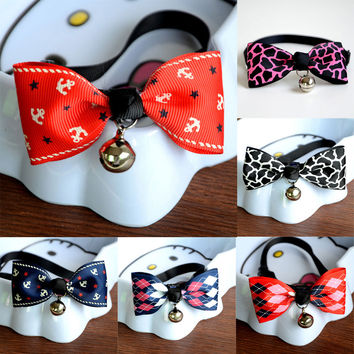Adjustable Cute Bow Tie Dog / Cat Collar
