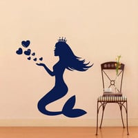 Wall Vinyl Decal Sticker Water Nymph Mermaid Bathroom Art Design Room Nice Picture Decor Hall Wall Chu459