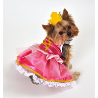Pink Princess Dog Costume - Medium