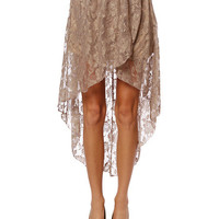 Papaya Clothing Online :: FLORAL LACE HIGH AND LOW SKIRT