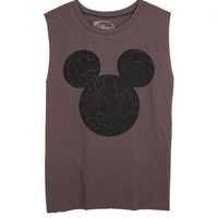 Cracked Mickey Muscle Tank - Black