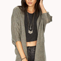 Touch-Of-Glam Open-Knit Cardigan