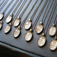 Vintage Dictionary Word Necklaces - Customize with the Word of Your Choice