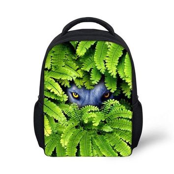 Cool Backpack school Noisydesigns Cool Teenager Boys The Cat Grass High School Children Kids Bagpack Personalized College Girls Laptop Backpacks AT_52_3