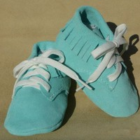 Suede leather baby shoes with Fringe | Lovejoycreations - Children's on ArtFire