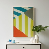 Lacquered Nautical Flags - Overlapping Triangle