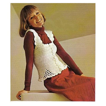 Vintage Crochet Pattern-70s Crochet Top-Crochet Camisole Pattern-Bohemian Clothing-Hippie Retro-Vtg DIY
