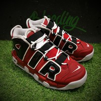 Best Online Sale Nike Air More Uptempo OG Asia Hoop Pack Sport Baskerball Shoes Black Red White Sneaker 415082-600