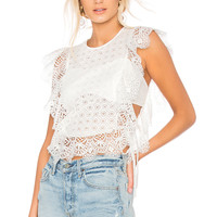 Nightcap Eliza Apron Top in White