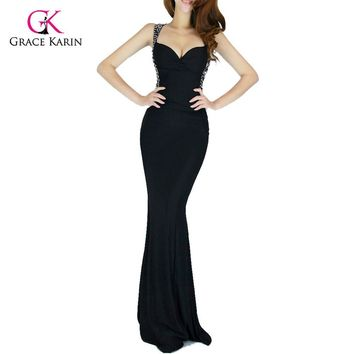 Evening Dress Women Backless Slim-line Sexy Bodycon Party Long Black Formal Gown Mermaid Dresses
