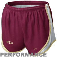 Nike Florida State Seminoles :FSU: Ladies Tempo Performance Shorts - Garnet