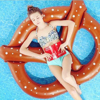 Big size inflatable swimming circle inflatable donut swiming ring safety circle safety bathing drop swimming pool accessories
