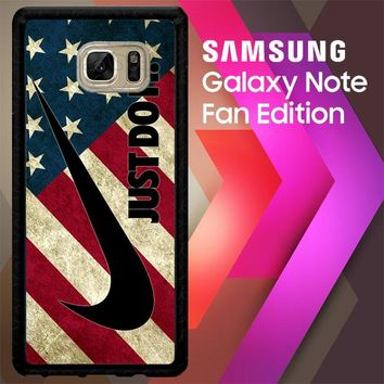 Nike American Flag L1969 Samsung Galaxy Note FE Fan Edition Case