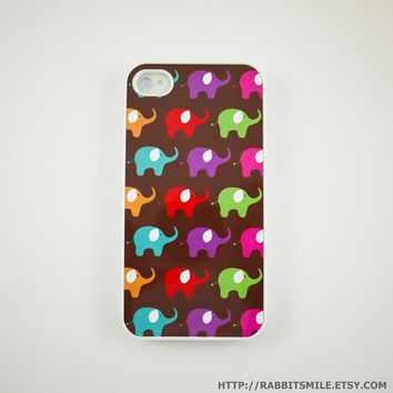Colorful Baby Elephant iPhone 5 Case, iPhone 4 case, iPhone 4s Cover , Hard Plastic iphone 5 Cover, cases