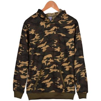 Winter Camouflage Color Blank Clothes XXS To 4XL Thick Hoodie With Cap Men/women Camouflage Series Fashion Depth/shallow