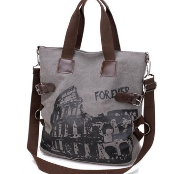 The original canvas bag New Ladies Vintage handbag Cross body Bag brand new large capacity forever print women retro tote bag