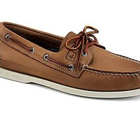 Authentic Original Burnished Leather 2-Eye Boat Shoe