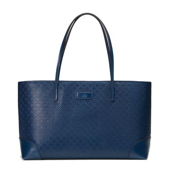 Gucci Diamante Hilary Lux Blue Tote Bag 353397