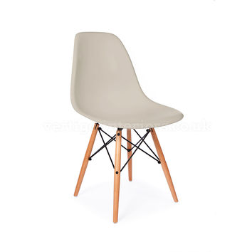 Eames Inspired Molded Plastic Chair-Wood Base