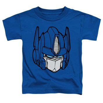 Transformers Toddler T-Shirt Optimus Prime Face Royal Tee