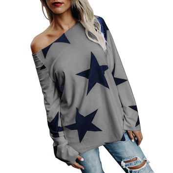 Gray and Blue Stars Shirts