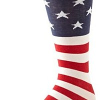 Amazon.com: K. Bell Socks Men's American Flag Sock, Red/White/Blue, 10-13: Clothing
