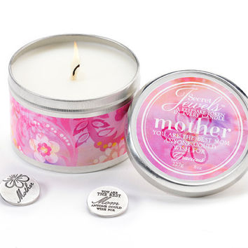 Secret Jewels Candles 8-oz Candle Tin, Mother