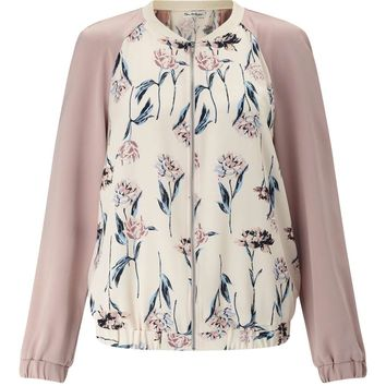 Nude Floral Bomber Jacket - Coats & Jackets - Apparel
