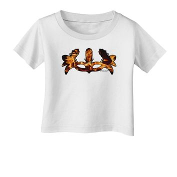 Fire Masquerade Mask Infant T-Shirt by TooLoud