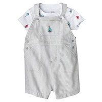 Just One You™Made by Carter's® Newborn Boys' Shortall Set - Grey/White
