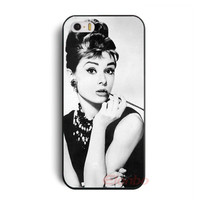 Beautiful Audrey Hepburn Hard Back Case Cover Skin For iPhone 4 4G 4S 5 5G 5S