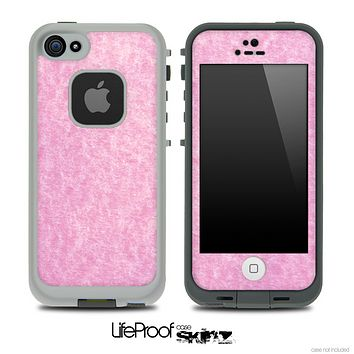 Fluffy Light Pink Skin for the iPhone 5 or 4/4s LifeProof Case