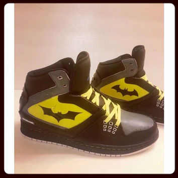Custom Painted Batman Jordans