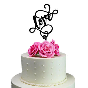Wedding Cake Topper Love Decoration Marriage Love Bride