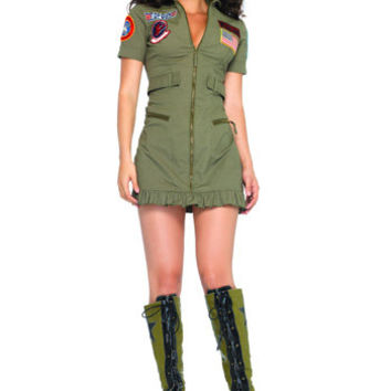 Top Gun Flight Dress - Sexy Top Gun Halloween Costumes