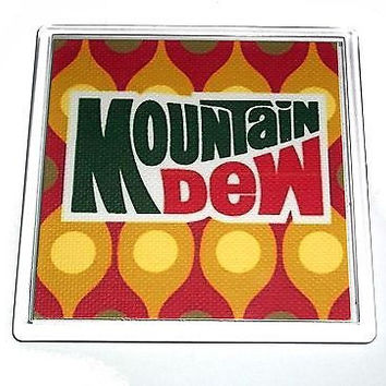 classic 1970s Mountain Mt. Dew Coaster or Change Tray