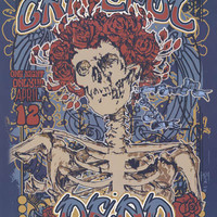 Grateful Dead Fillmore Skeleton and Roses Poster 24x36