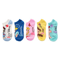 Disney Princess No-Show Socks 5 Pair