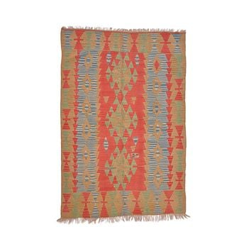 "Turkish Kilim Turkish 3' 7"" X 5' 3"" Handmade Rug"